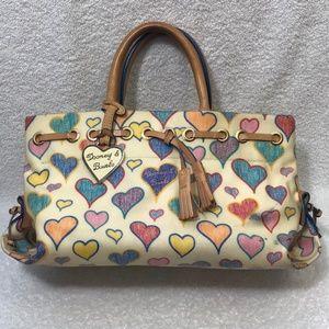 """Dooney Bourke """"Heart"""" Leather Tassel Shoulder Bag"""